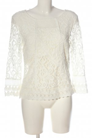 Cream Langarm-Bluse weiß Elegant