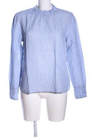 Cream Langarm-Bluse weiß-blau Streifenmuster Casual-Look