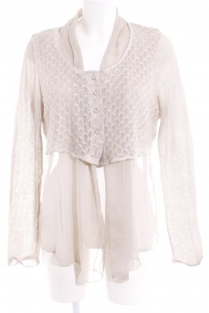 Cream Langarm-Bluse beige-hellbeige Elegant