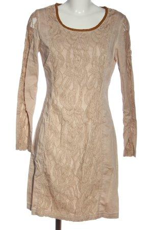 Cream Sukienka z długim rękawem różowy Abstrakcyjny wzór Elegancki