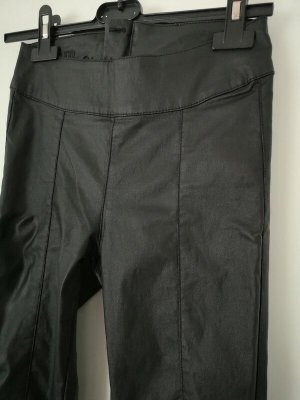 Cream Leggings negro tejido mezclado
