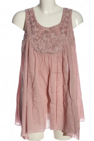Cream Long-Bluse pink Casual-Look