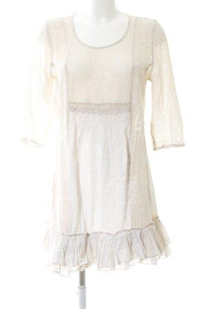 Cream Long-Bluse wollweiß Blumenmuster Casual-Look
