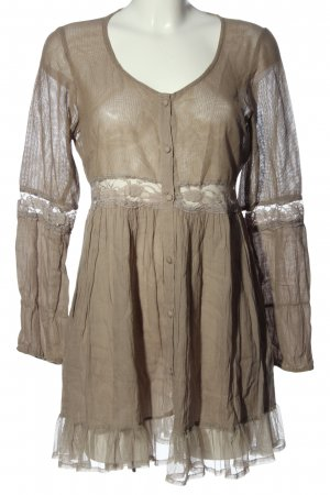 Cream Long-Bluse khaki Casual-Look