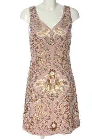 Cream Minikleid nude-goldfarben Allover-Druck Elegant