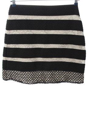 Cream Minirock schwarz-weiß Streifenmuster Casual-Look