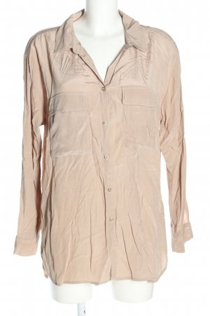 Cream Oversized Bluse pink Casual-Look