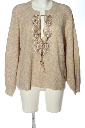 Cream Oversized Pullover mehrfarbig Casual-Look