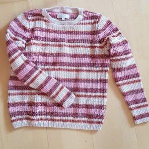 Cream Coarse Knitted Sweater multicolored cotton
