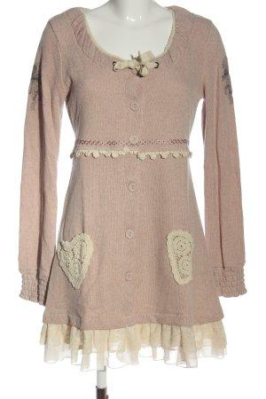 Cream Swetrowa sukienka nude Melanżowy W stylu casual