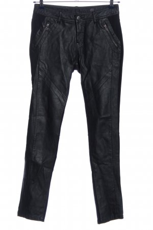 Cream Drainpipe Trousers black extravagant style