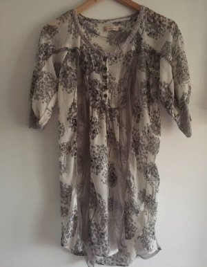 ❤️CREAM❤️ Schicke Tunika / Kleid Creme grau Gr.36 wNeu