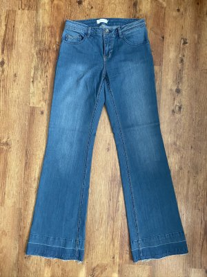 Cream Boot Cut Jeans steel blue cotton