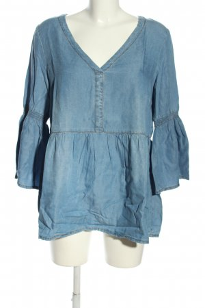 Cream Schlupf-Bluse blau Casual-Look