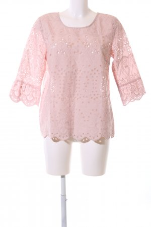 Cream Schlupf-Bluse pink grafisches Muster Casual-Look