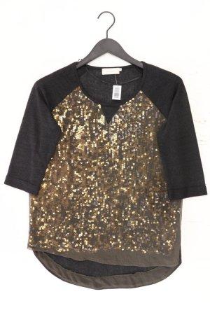 Cream Shirt Größe S 3/4 Ärmel mit Pailletten schwarz aus Polyester