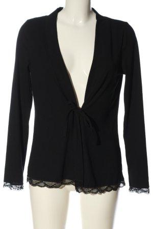 Cream Chaqueta estilo camisa negro look casual