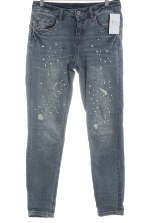 Cream Skinny Jeans blau Used-Optik