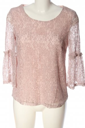 Cream Spitzenbluse pink Casual-Look