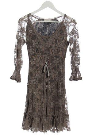 Cream Lace Dress allover print elegant