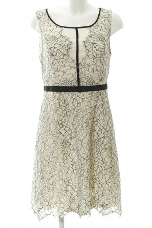 Cream Lace Dress cream-black
