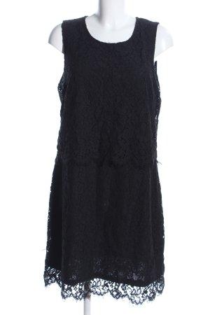 Cream Lace Dress black flower pattern elegant