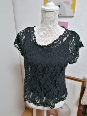 Cream Spitzenshirt schwarz Gr. S