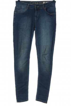 Cream Straight-Leg Jeans blau Casual-Look
