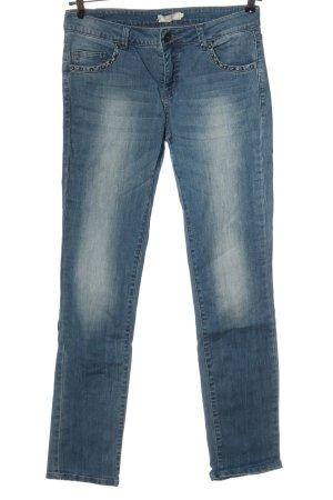 Cream Jeansy z prostymi nogawkami niebieski