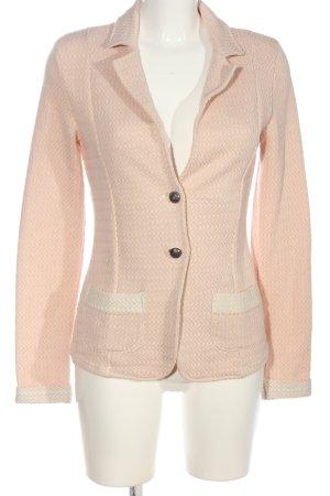 Cream Gebreide blazer roze volledige print casual uitstraling