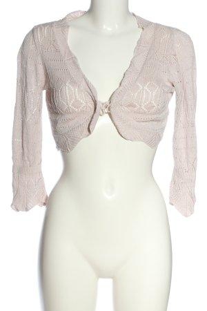 Cream Bolero lavorato a maglia rosa stile casual
