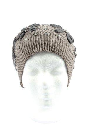 Cream Sombrero de punto gris claro look casual