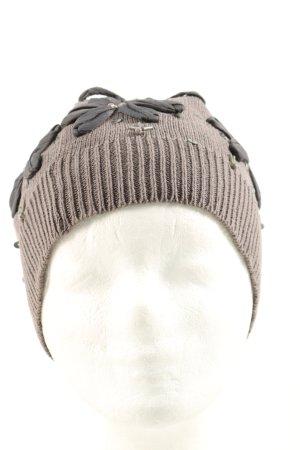 Cream Chapeau en tricot brun-noir style décontracté