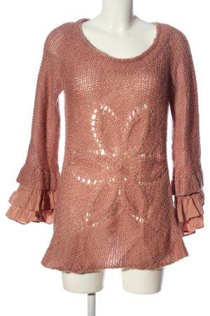 Cream Sweter z dzianiny różowy W stylu casual