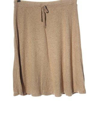 Cream Spódnica z dzianiny brązowy Melanżowy W stylu casual