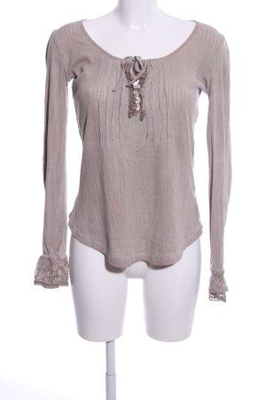 Cream Strickshirt pink Casual-Look