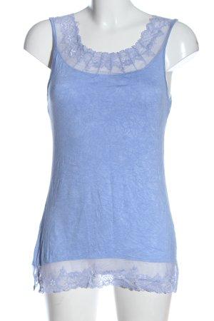 Cream Stricktop blau meliert Casual-Look