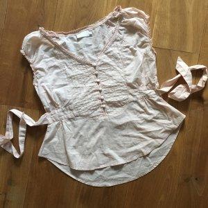 ❤️CREAM❤️ süße Bluse rosa zum Binden Gr. 38 wie neu!