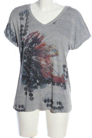 Cream T-Shirt hellgrau-blau meliert Casual-Look