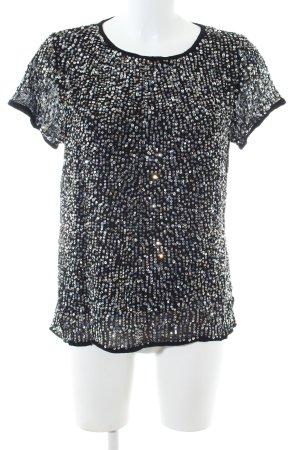 Cream T-Shirt schwarz-silberfarben Casual-Look