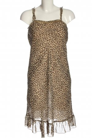Cream Abito scamiciato crema-marrone Stampa leopardata stile casual
