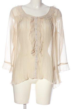 Cream Transparenz-Bluse creme Casual-Look