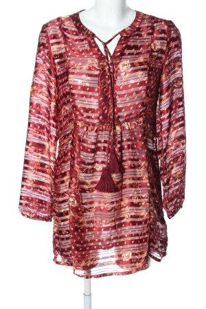 Cream Transparenz-Bluse rot Blumenmuster Casual-Look