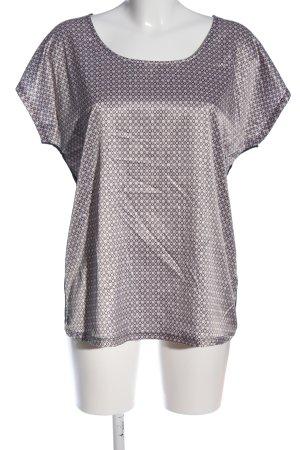 Cream U-Boot-Shirt hellgrau-schwarz Allover-Druck Business-Look