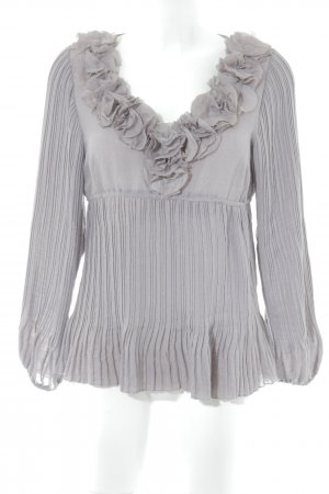 Cream V-Ausschnitt-Pullover blasslila Romantik-Look