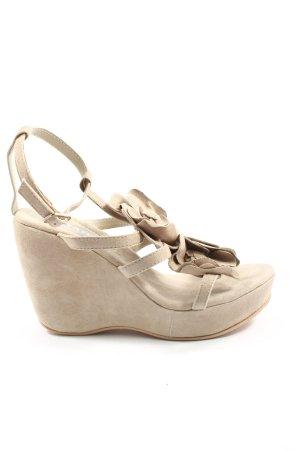 Cream Wedge Sandals natural white elegant