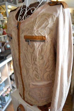 Cream Blazer corto albicocca Cotone
