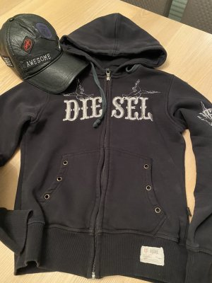 Diesel Sweat Jacket black-silver-colored