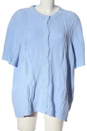 Creation Atelier GS Cardigan a maniche corte blu stile casual