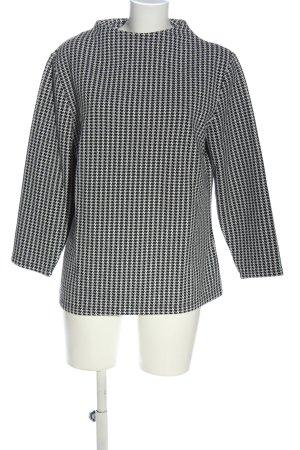 Creation L. Fine Knit Jumper black-white allover print casual look